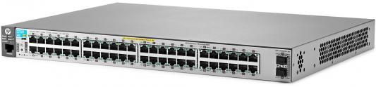 Коммутатор HP 2530-48G-PoE+ управляемый 48 портов 10/100/1000Mbps 2xSFP PoE+ J9853A hp 2530 48g