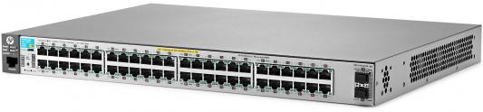 Коммутатор HP 2530-48G-PoE+ управляемый 48 портов 10/100/1000Mbps 2xSFP PoE+ J9853A hp hp 2920 48g