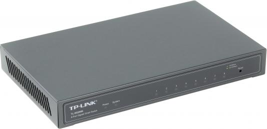 Коммутатор TP-LINK TL-SG2008 8 портов 10/100/1000Mbps комплект адаптеров powerline tp link tl wpa7510kit 10 100 1000mbps
