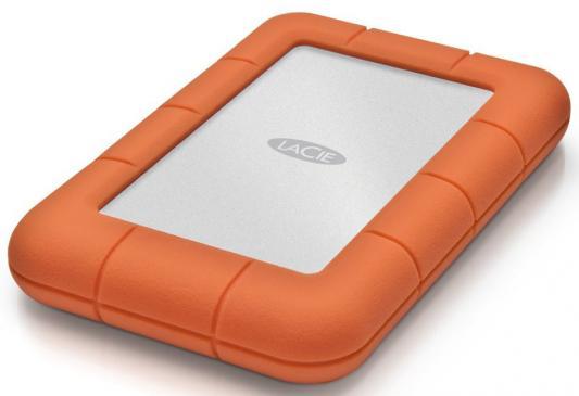 """Внешний жесткий диск 2.5"""" USB3.0 1Tb Lacie Rugged Mini 301558 оранжевый"""