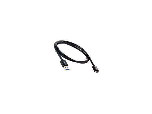 Кабель-рулетка USB 2.0 AM/AF 0.75 м Konoos зол.разъемы черный
