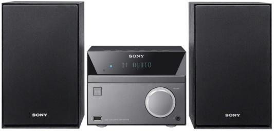 Микросистема Sony CMT-SBT40D черный музыкальный центр sony cmt sbt40d микросистема cd dvd usb fm 50 blth nfc