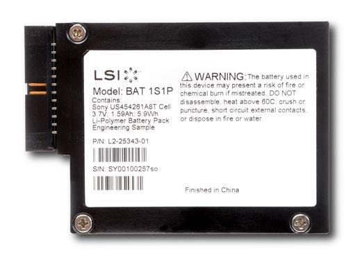 Батарея для контроллера LSI Logic LSIiBBU08 LSI00264 для серий SAS9260 SAS9261 SAS9280 KIT raid контроллер lsi logic megaraid sas 9271 4i sgl