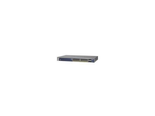 Коммутатор Netgear GSM7224P-100NES управляемый 24 порта 10/100/1000Mbps