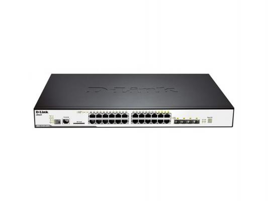 Коммутатор D-LINK DGS-3120-24PC/B1ARI управляемый 24 порта 10/100/1000Mbps PoE ибп powercom vanguard rm vrt 1000xl 900w 1000va
