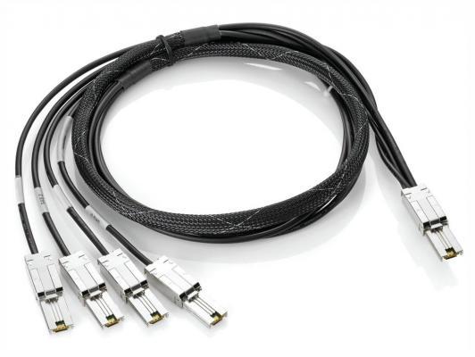 Кабель HP Mini-SAS - 4x1 Mini-SAS 2м AN975A кабель displayport 2м hp vn567aa cable kit