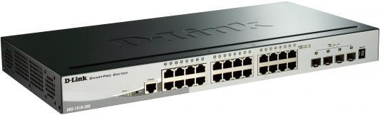 Коммутатор D-LINK DGS-1510-28X/A1A стекируемый 24 порта 10/100/1000Mbps 4хSFP+ коммутатор d link dgs 1510 28p a1a dgs 1510 28p a1a