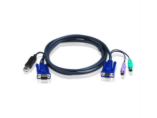 Кабель ATEN 2L-5506UP HD15M/USBAM--HD18F/MD6M/ 6м переходник aten uc100kma usb ps2