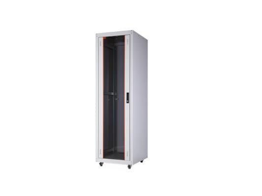 """Шкаф напольный 19"""" 32U Estap ECOline ECO32U66GF1R1 600x600mm серый"""