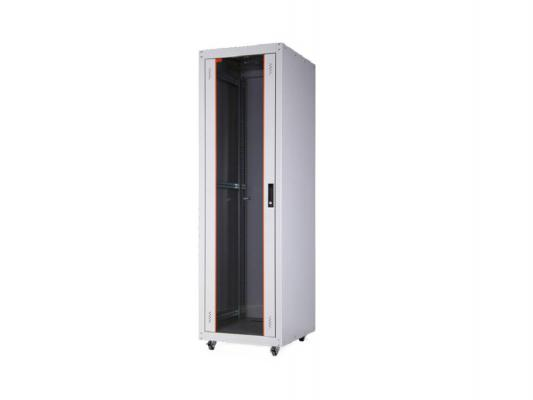 """Шкаф напольный 19"""" 42U Estap ECOline ECO42U68GF1R1 600x800mm серый"""