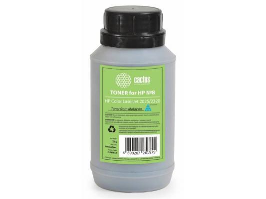 Тонер Cactus CS-THP8C-70 для HP Color LaserJet 2025/2320 голубой 70гр тонер cactus cs thp8bk 90 для hp clj 2025 2320 черный 90грамм флакон