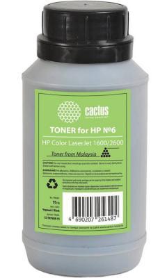 Тонер Cactus CS-THP6BK-95 для HP Color LaserJet 1600/2600 черный 95гр