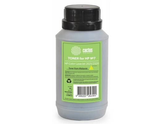 Тонер Cactus CS-THP8Y-70 для HP Color LaserJet 2025/2320 желтый 70гр tph 1215 2c laser toner powder for hp cp 1215 1515 1518 2020 2025 cm 2320 1312 1300 bkcmy 1kg bag color