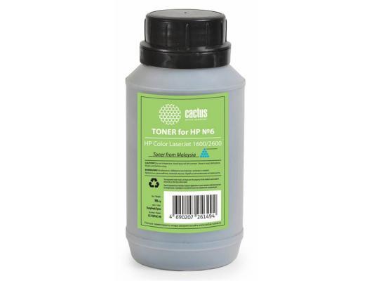 Тонер Cactus CS-THP6C-90 для HP Color LaserJet 1600/2600 голубой 90гр repalce paper roller kit for hp laserjet laserjet p1005 6 7 8 m1212 3 4 6 p1102 m1132 6 rl1 1442 rl1 1442 000 rc2 1048 rm1 4006