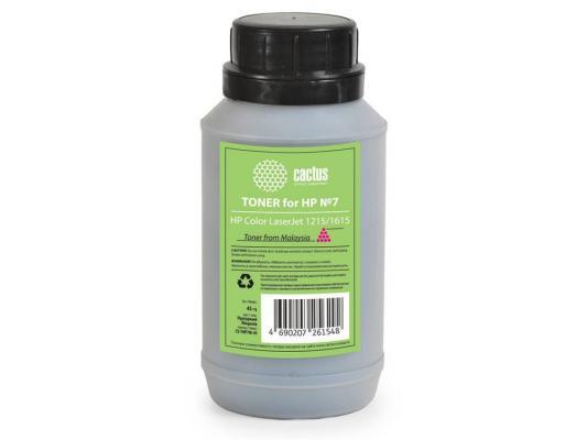 Тонер Cactus CS-THP7M-45 для HP Color LaserJet 1215/1615 пурпурный 45гр