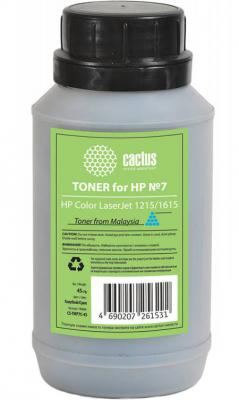 Тонер Cactus CS-THP7C-45 для HP Color LaserJet 1215/1615 голубой 45гр