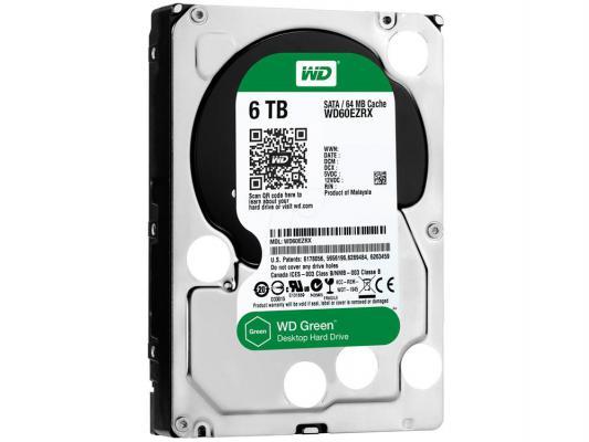 "Жесткий диск 3.5"" 6 Tb 5400rpm 64Mb cache Western Digital Caviar Green SATAIII WD60EZRX"