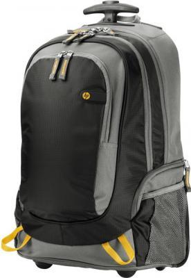 "цена Рюкзак для ноутбука 15.6"" HP Roller Backpack черный серый J6X32AA онлайн в 2017 году"