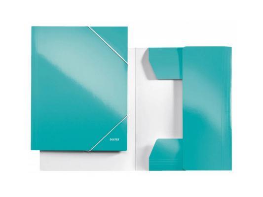 Папка с 3-мя клапанами Leitz WOW ламинированный картон бирюзовый 39820051