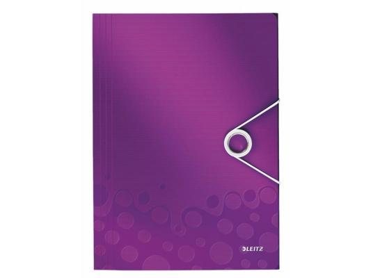 Папка с 3-мя клапанами Leitz WOW фиолетовый 45990062
