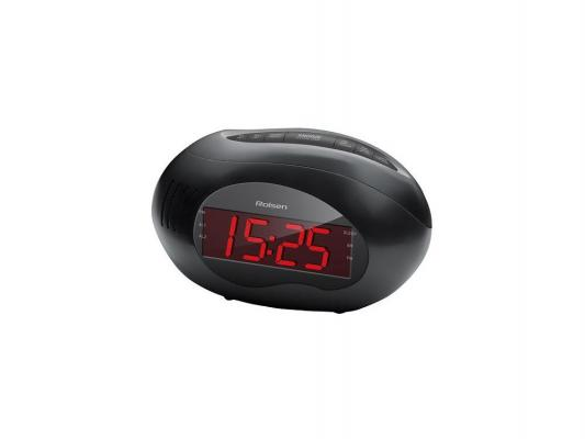 Часы с радиоприемником Rolsen CR-190 черный