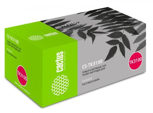 Тонер Cactus CS-TK3100 для Kyocera Ecosys FS-2100D/2100DN черный 12500стр картридж t2 tc k3100 для kyocera fs 2100d 2100dn ecosys m3040dn m3540dn черный 12500стр