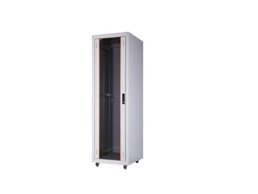 """Шкаф напольный 19"""" 22U Estap ECOline ECO22U66GF1R1 600x600mm серый"""