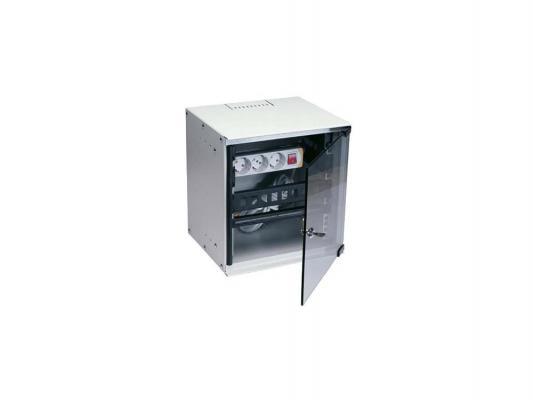 """Шкаф настенный 10"""" 6U Estap SOHOline SOHO6U25G 292x300mm серый"""