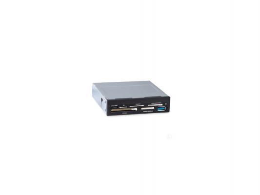 Картридер внутренний Ginzzu GR-166UB SDXC/SD/SDHC/MMC/microSDXC/SDHC/MS/CFI/CFII/M2/xD USB 3.0 OEM черный