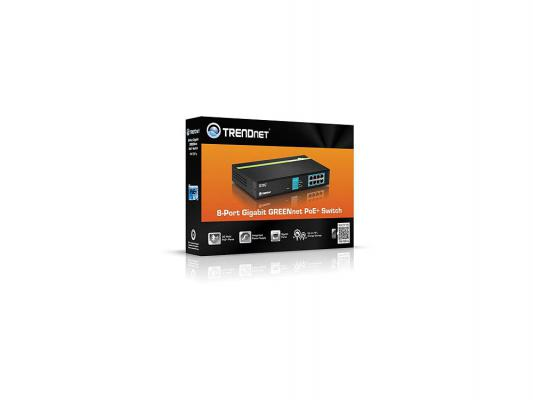 Коммутатор TRENDnet TPE-TG81G 8 портов PoE + Gigabit Switch