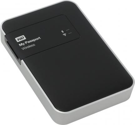 "Внешний жесткий диск 2.5"" USB3.0/Wi-Fi 1 Tb Western Digital My Passport Wireless WDBK8Z0010BBK-EESN черный"