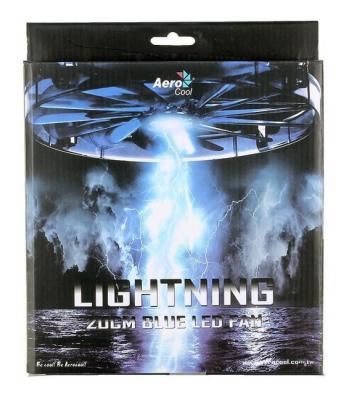 Вентилятор Aerocool Lightning 200mm синяя подсветка 4713105951417 от 123.ru