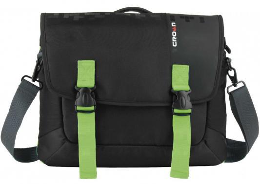 Сумка для ноутбука 15.6 Crown CMCCH-3315BBG синтетика черный зеленый