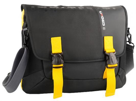 Сумка для ноутбука 15.6 Crown CMCCH-3315BBY синтетика черный желтый