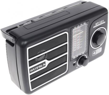 Радиоприемник Supra ST-121 черный телевизор supra stv lc32t700wl