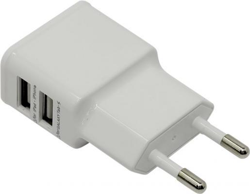 Сетевое зарядное устройство ORIENT PU-2402 1A белый зарядное устройство зарядное устройство сетевое qtek s200 htc p3300 ainy 1a