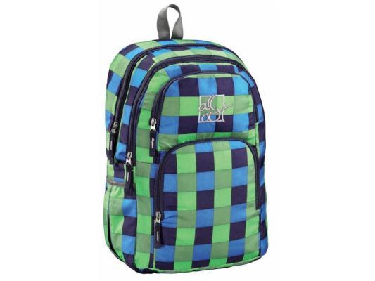 Школьный рюкзак с отделением для ноутбука All Out Kilkenny Pool Check 23 л зеленый голубой черный 00124828 сумка спортивная all out westend blue dream check желтый розовый голубой черный 00129224
