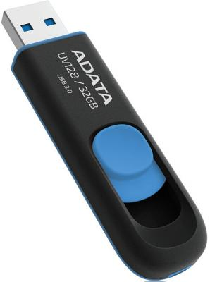 Флешка USB 32Gb A-Data UV128 USB3.0 AUV128-32G-RBE черный/синий