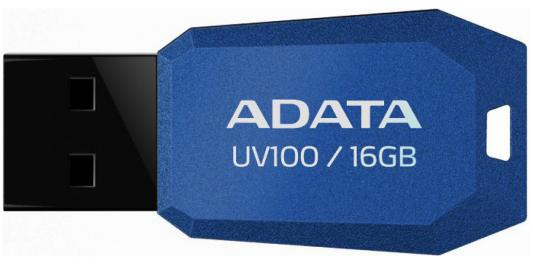 Флешка USB 16Gb A-Data UV100 USB2.0 AUV100-16G-RBL синий цена и фото