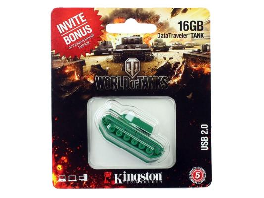 Флешка USB 16Gb Kingston DataTraveler TANK DT-TANK/16GB флешка usb 16gb kingston datatraveler mini usb3 0 dtm30r 16gb красный