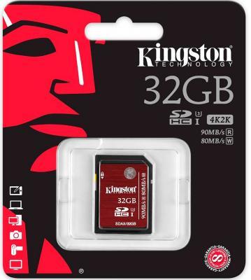 Карта памяти SDHC 32GB Class 10 Kingston SDA3/32GB
