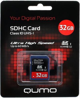 Карта памяти SDHC 32Gb QUMO Class 10 QM32GSDHC10
