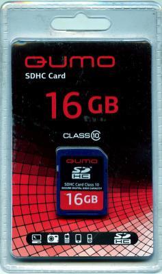 Карта памяти SDHC 16Gb QUMO Class 10 QM16GSDHC10