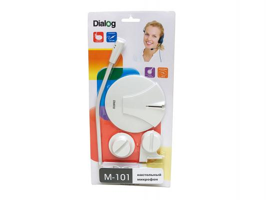 Микрофон Dialog M-101W белый