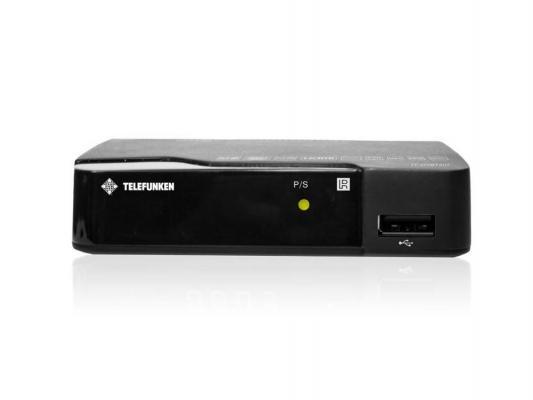 Тюнер цифровой DVB-T2 Telefunken TF-DVBT207 HDMI USB черный