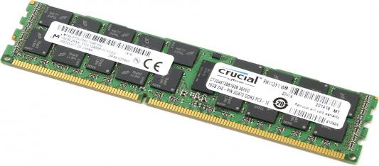 Оперативная память 16Gb (1x16Gb) PC3-12800 1600MHz DDR3 DIMM ECC Buffered CL11 Crucial CT204872BB160B оперативная память 4gb 1x4gb pc3 12800 1600mhz ddr3 dimm ecc buffered cl11 hp 713981 b21
