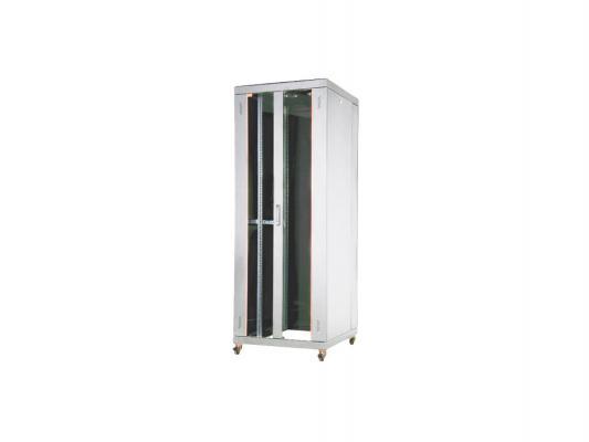 """Шкаф напольный 19"""" 42U Estap EUROline EU42U81GF1R1 800x1000mm серый"""