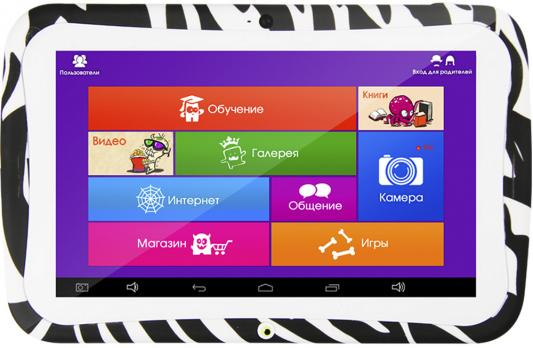 "Планшет Turbo MonsterPad 8Gb 7"" 1024x600 RK3126 1Gb Wi-Fi Android 5.1 черно-белый зебра"
