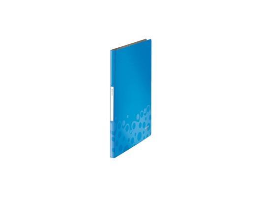 Папка с зажимом Kokuyo WE-FU320BL A4 20мм синий kokuyo высокая прозрачная офисная сумка книга с документами карманная файловая книга папка с листом бумаги a4 60 страниц желтый wcn tcb2610y