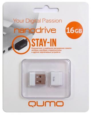 Флешка USB 16Gb QUMO NanoDrive USB2.0 белый QM16GUD-NANO-W